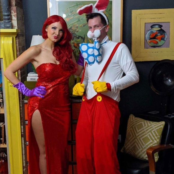 Roger and Jessica Rabbit chapstick holder